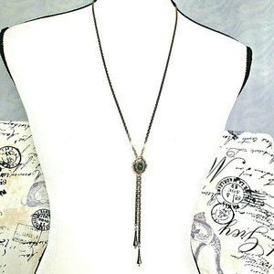 intage SARAH COVENTRY Gold Tone Lariat Y-Necklace